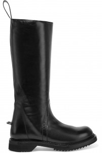 Cyclops glossed-leather boots