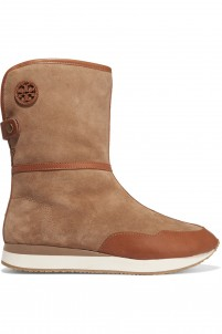 Balfour shearling-lined suede boots