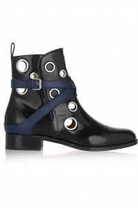 + Jonathan Saunders Scubabootie 25 embellished glossed-leather ankle boots
