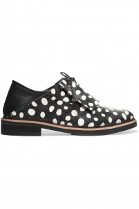 Columbia polka-dot elaphe and leather brogues