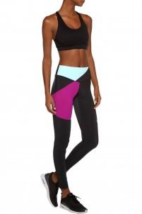 Bolt color-block stretch-jersey leggings