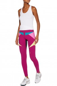 Paragon mesh-paneled stretch leggings