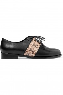 Dorrado elaphe and leather brogues