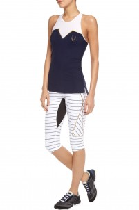 Nordica cropped striped stretch leggings