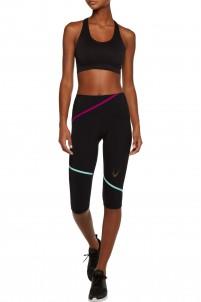 Striped stretch-jersey capri leggings