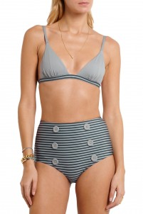 Sailor Stripes triangle bikini top
