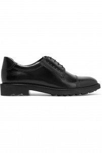 Glossed-leather brogues
