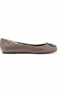 Quinn quilted leather ballet flats
