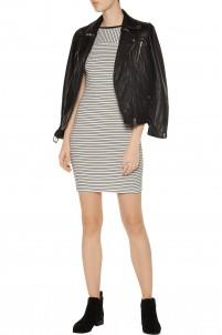 Pryor striped ribbed modal-blend mini dress
