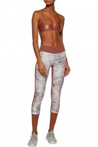 Emulate printed stretch-jersey leggings