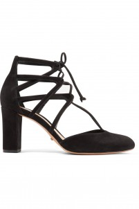 Arya lace-up suede pumps