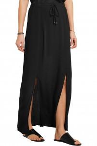 Crinkled-gauze maxi skirt