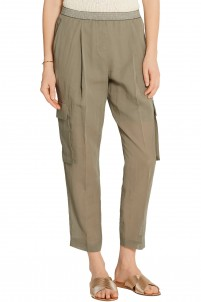 Cotton-canvas tapered pants