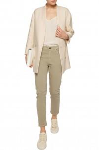 Cotton-blend bouclé coat