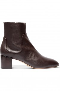 Erin textured-leather ankle boots