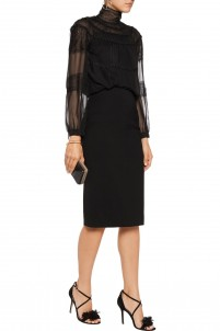 Mariela crepe pencil skirt