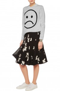 Sad Face intarsia merino wool sweater