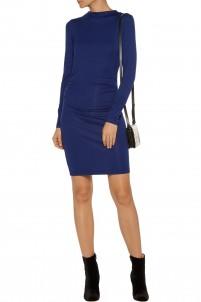 Streeter ruched modal-blend dress
