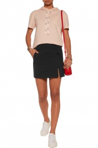 Kangaroo cotton-twill mini skirt