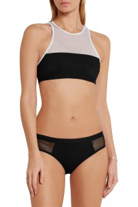 Mesh-paneled bikini briefs