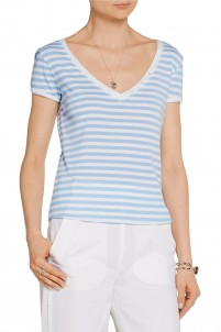 Le Button striped stretch-cotton jersey T-shirt