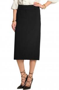 Wool-crepe skirt