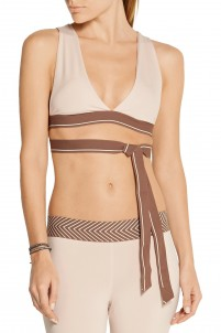 Knot stretch-jersey sports bra
