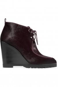 Beth calf hair wedge ankle boots