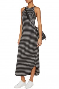 Leigh striped stretch-jersey maxi dress