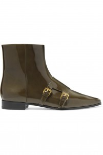 Laura buckled patent-leather ankle boots