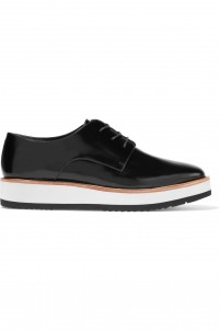 Matte-leather brogues