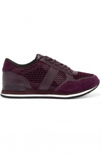 Jamie suede, mesh and leather sneakers