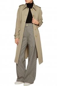Belted wool-gabardine trench coat