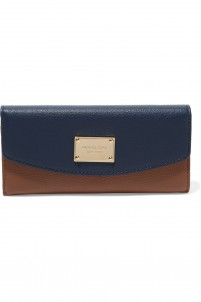 Jet Set two-tone leather wallet