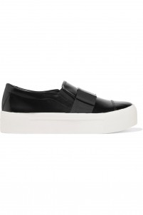 Banner leather slip-on sneakers