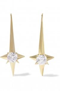 Naos gold-tone crystal earrings