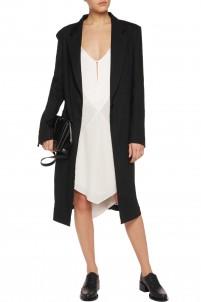 Linen-blend coat