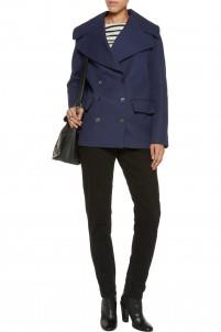 Cotton-crepe coat