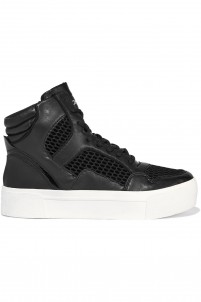 Bosley leather and mesh high-top sneakers