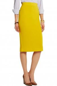 Albee merino wool-jersey skirt