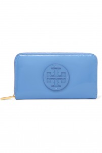 Patent-leather continenal wallet