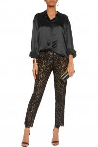 Lace slim-leg pants