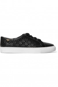 Marion smooth and quilted leather sneakers