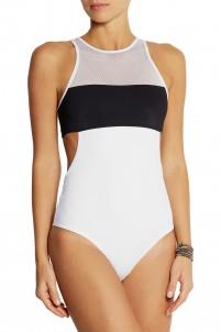 Mesh-paneled swimsuit
