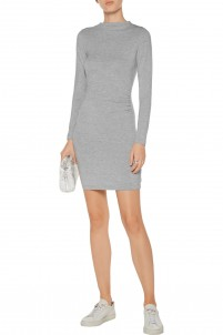 Streeter ruched modal-blend mini dress