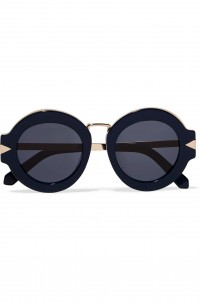 Maze round-frame acetate and metal sunglasses