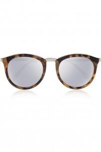 No Smirking round-frame acetate and metal mirrored sunglasses