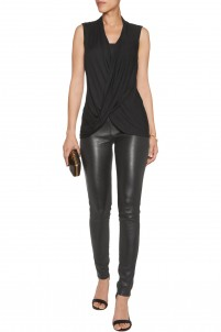 Paparazzi draped stretch-jersey top