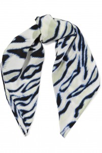 Trudy printed washed-silk scarf