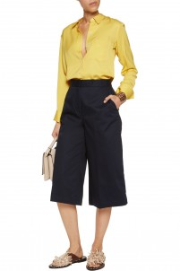 Bermuda cotton-blend faille culottes